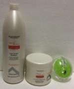 Alfaparf Semi Di Lino Discipline Frizz Control Shampoo 1000ml, Mask 510ml and Aj Professional Shampoo Brush Bundle