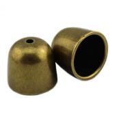 PendantScarf Antique Bronze Tone Plastic Jewellery End Bead Caps