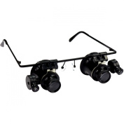 HTS 201D2 20x Hands Free Illuminated Loupes With Eyeglass Frame
