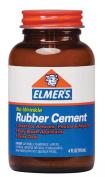 Elmer's No-Wrinkle Rubber Cement, Clear, Brush Applicator, 120ml