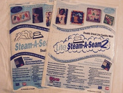 Steam-a-seam 2 and Steam-a-seam 2 Lite Package of Two 23cm X 30cm Sheets 5 Sheets in Each/total 10 Sheets