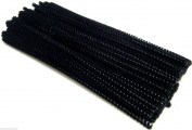 Black Pipe Cleaners Chenille Stems Assorted Craft Pipecleaners Stems 15cm 100
