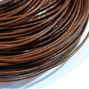 1.5mm Genuine Leather Cord Coffee Colour 10m String 4005 Knotting Stringing