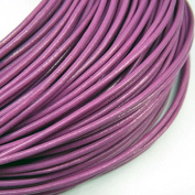 2mm Genuine Leather Cord Purple Round 10m String - for Necklace Bracelet