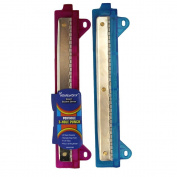 Portable 3 Hole Paper Punch with Ruler-Assorted Colours school