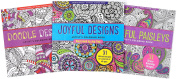 Adult Colouring Book Value Pack (Doodle, Joyful & Paisley) 3 Pack