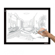 AGPtek 37cm X 47cm LED Artcraft Tracing Light Pad A3 size Light Box Ultra-thin USB Power Cable Dimmable Brightness Tatoo Pad Aniamtion, Sketching, Designing, Stencilling