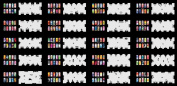 Reuseable Airbrush Nail Stencil 240 DESIGNS - 20 Template Sheets Kit Set 3