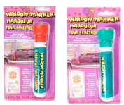 2 Pack - Window Markers - Temporary Paint for Car or Home Glass Windows - Fun Colour Combinations ~ Christmas Colours