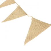 3 Yards Rustic Wedding Garland Natural Hessian Burlap Bunting Party Banner