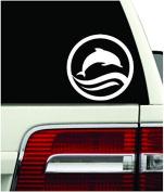 Dolphin Jumping Sticker Beach Salt Waves Car Window Vinyl Decal