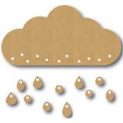 Eyeconnect Chipboard Lace, Up, Large Rain Cloud, 14cm by 7.4cm