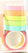Decorative DIY Tape Washi Rainbow Candy Colour Sticky Paper Masking Adhesive Tape Scrapbooking & Phone DIY Decoration 10xRoll
