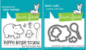 Lawn Fawn Year 4 Hippo Birdie To You Stamp and Die Bundle LF655 LF660