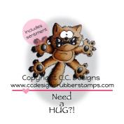 C.C. Designs Doodle Dragon Cling Stamp 7.6cm x 7.6cm Scaredy Cat