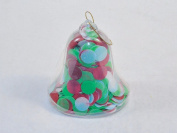 Bath Soap Confetti In Bell-Shaped Ornament - Floral Scent, Holiday Colour Flakes.