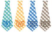 Monthly Baby Sticker, Baby Tie, Plaid Tie, Gingham Tie,