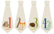 Monthly Baby Sticker, Woodland, Ties