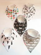 Danha Baby Bandana Teething Bib for infants and toddlers - set of 5 organic cotton drooling bib