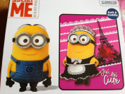 Despicable Me Minions Pink Tres Tres Cute Fleece Throw