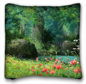 Custom Characteristic Anime Custom Cotton & Polyester Soft Rectangle Pillow Case Cover 41cm x 41cm (One Side) suitable for Full-bed