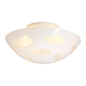 SKOJIG Ceiling lamp, white/ Gives a soft mood light
