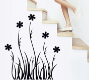 Black Leaves Flowers Wall Decal Home Sticker House Decoration WallPaper Removable Living Dinning Room Bedroom Kitchen Art Picture Murals DIY Stick Girls Boys kids Nursery Baby Playroom Decoration PP-AY7073