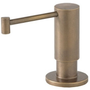 Waterstone 4065WB Fulton Suite Soap/Lotion Dispenser, Gold/Weathered Brass