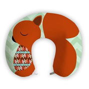 EnjoyIt Red Squirrel U-Shape Neck Pillow with Perfect Design Cloth with Soft Nap Surface and High Quality Memory Foam Insert