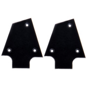 2pc High Quality Black Plastic Tree Style Electric Guitar Truss Rod Cover