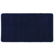 Townhouse Rugs New Arrival Luxurious and Soft Absorbent Memory Foam Bathmat,43cm by 60cm , Blue