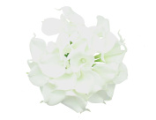 50 Heads Mini Calla Lily Bridal Wedding Bouquet Real Touch Flower Bouquets
