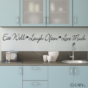 Eat Well Laugh Often Love Much wall saying vinyl lettering home decor decal sticker quote appliques