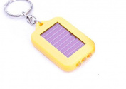 TheWin Solar-powered LED Flashlight Keychain,Yellow