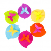 ME.LAI Creative Butterfly Anti-dust Airtight Seal Silicone Cup Mug Cover Lids 6 Set