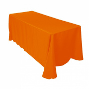 Tablecloth Restaurant Line Rectangular 230cm x 340cm Orange By Broward Linens