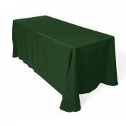 Tablecloth Restaurant Line Rectangular 230cm x 340cm Hunter Green By Broward Linens