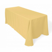 Tablecloth Restaurant Line Rectangular 230cm x 340cm Gold By Broward Linens