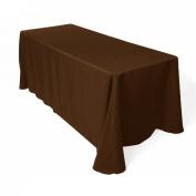 Tablecloth Restaurant Line Rectangular 230cm x 340cm Brown By Broward Linens