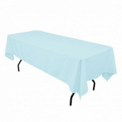 Tablecloth Restaurant Line Rectangular 180cm x 230cm Light Blue By Broward Linens