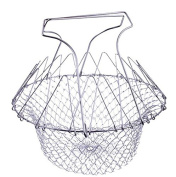 Edtoy Durable Foldable Strain Fry Frying Basket Strainer Rinse Kitchen Tools