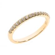 Solid 14k Yellow Gold Diamond Stackable Wedding Band