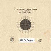 10 Metre (33ft.) Air Rifle Single Bulleye Official NRA Target (AR 5/1) Package of 100