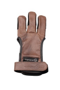ArcheryMax Handmade Brown Leather Three Finger Archery Gloves G20