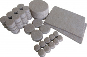 Shepherd Hardware 9839 Adhesive Felt Furniture Pads, Assorted Sizes, 118-Pieces