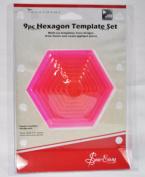 Sew Easy 9 Piece Hexagon Template Set ERGG07.PNK