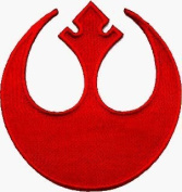 Star Wars Rebel Alliance Patch Embroidered Iron on Hat Jacket Hoodie Backpack Ideal for Gift /7.5cm(w) X 7.5cm