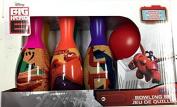 Disney Big Hero 6 Hiro Baymax Characters Bowling Set in Display Box 6 Pins and Bowling Ball
