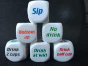 1PC Dice New Drink Decider Die Games Bar Party Pub Dice Fun Funny Toy Drinking Game