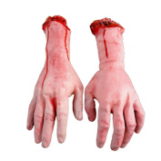 Lvzun Terror Severed Bloody Fake Arms Hands for Halloween Party